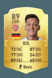 Ozil FIFA 18 Rating