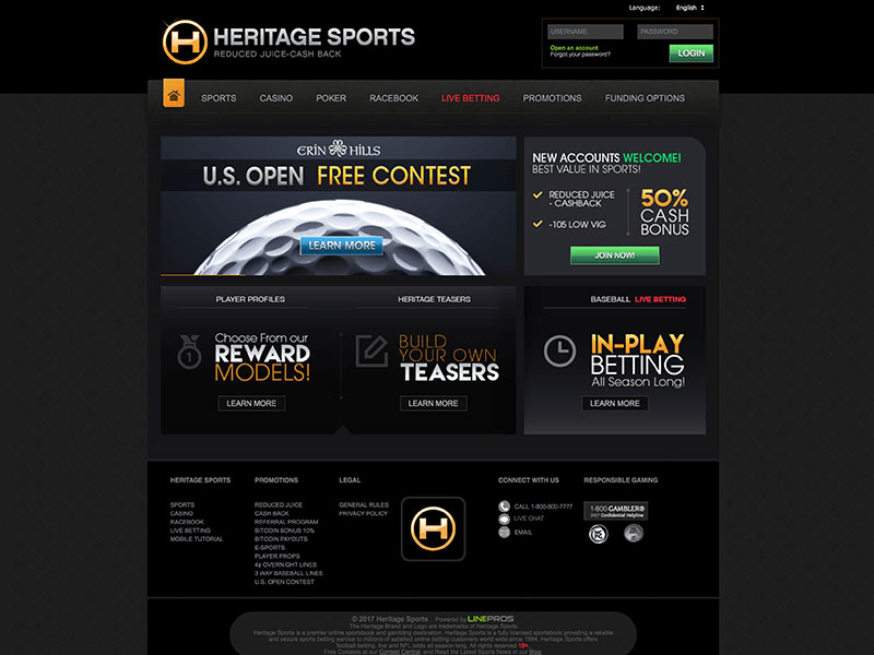 Heritage betting best betting sports sites
