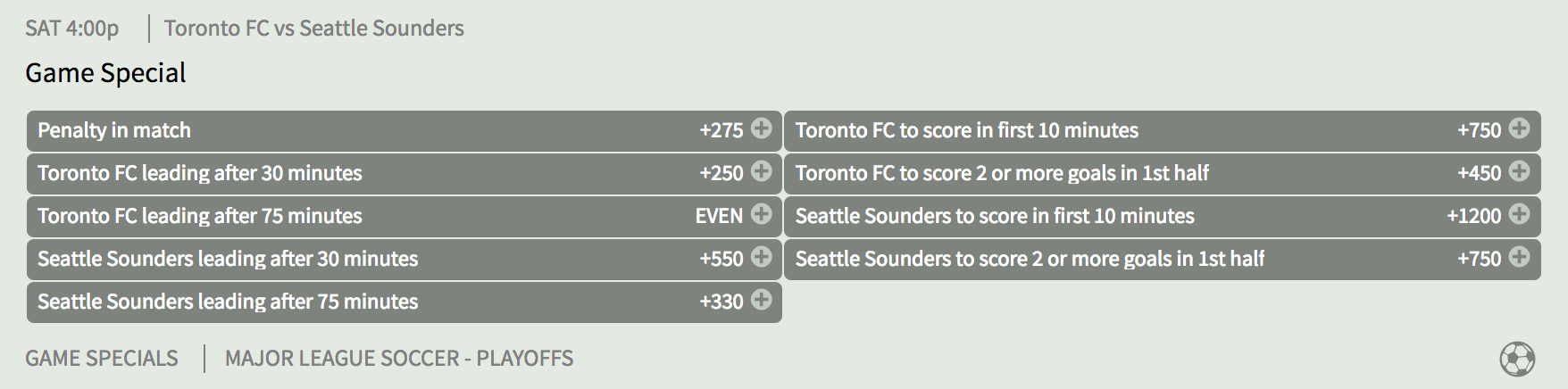 Toronto FC vs Seattle Sounders Game Special